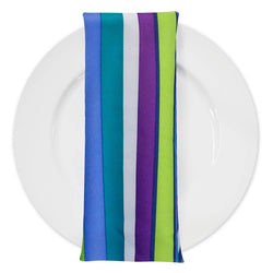 Multi-Color Stripe Table Napkin in Grape