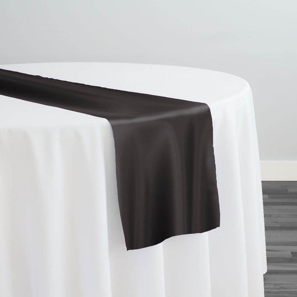Lamour (Dull) Satin Table Runner in Gray 1665