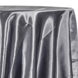 Bridal Satin Table Linen in Gray 665