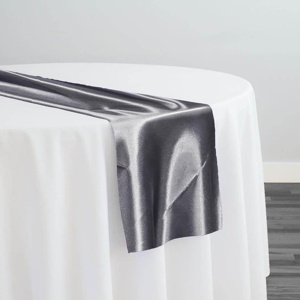 Bridal Satin Table Runner in Gray 665