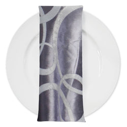 Cirque Jacquard (Double-Sided) Table Napkin in Purple Grey