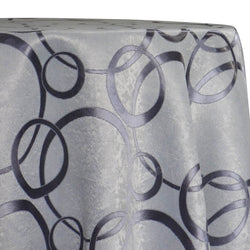 Cirque Jacquard (Reversible) Table Linen in Purple Grey