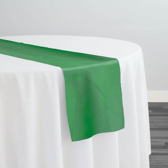 Crystal Organza Table Runner in Green 1875