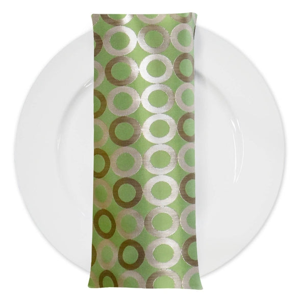 Mosaic (Double-Sided) Table Napkin in Green and Gold