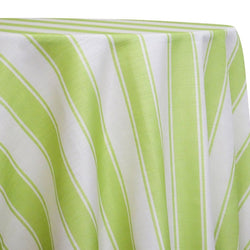 Cabana Stripe Table Linen in Green