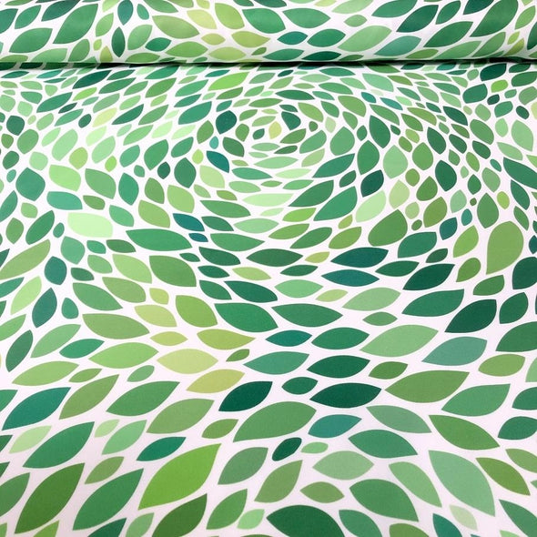 Locus Leaf Poly Print Table Runner in Green