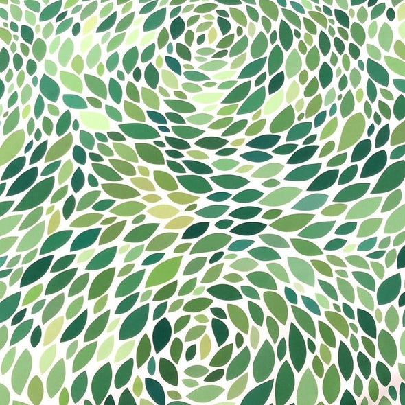 Locus Leaf Poly Print Table Linen in Green