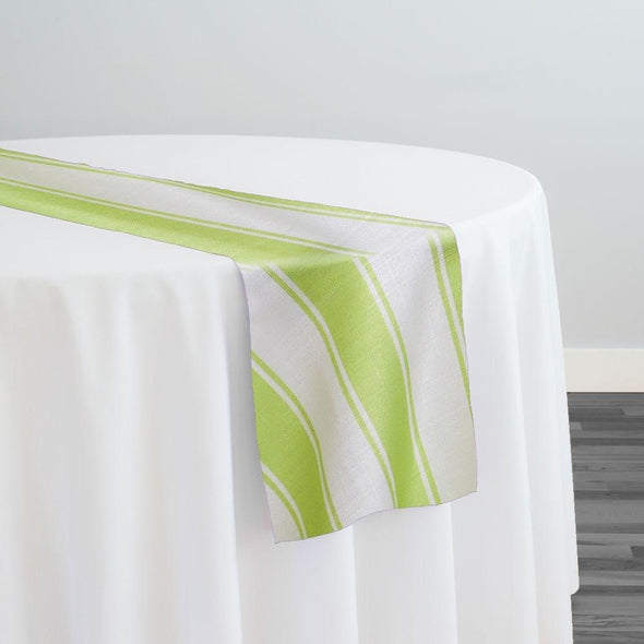 Cabana Stripe Table Runner in Green