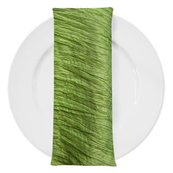 Accordion Taffeta Table Napkin in Green