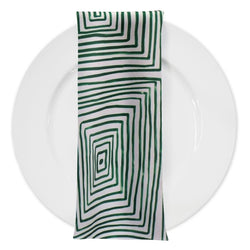 Modena (Poly Print) Table Napkin in Green
