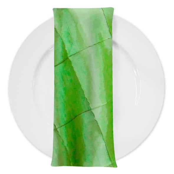 "4"" Pintuck Taffeta Table Napkin in Green"