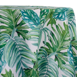 Tropical Print (Dupioni) Table Linen in Green
