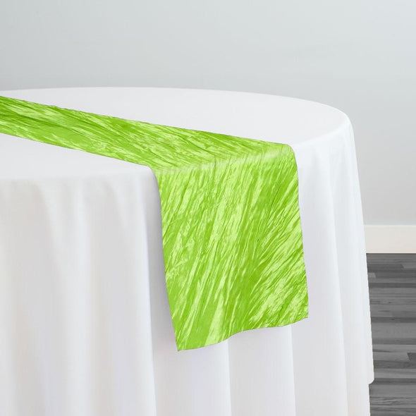 Accordion Taffeta Table Runner in Green