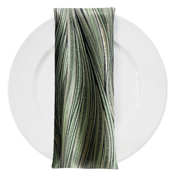 Allure Jacquard Table Napkin in Green