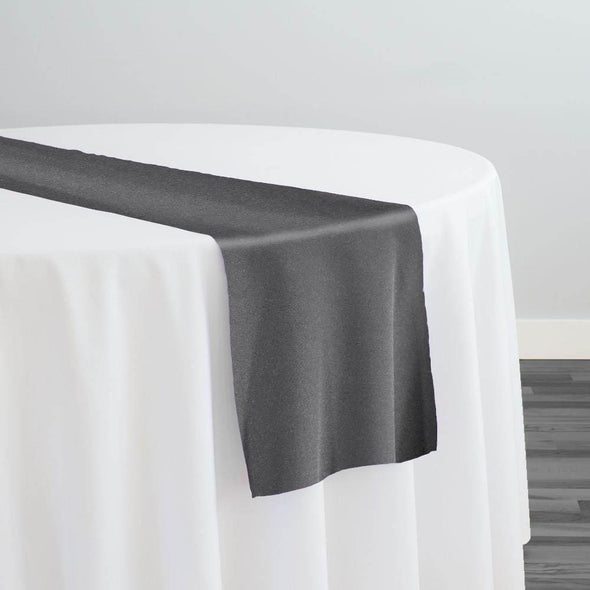 Scuba (Wrinkle-Free) Table Runner in Deep Grey 103