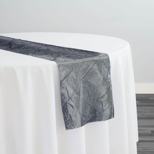 Crush Satin (Bichon) Table Runner in Gray 665