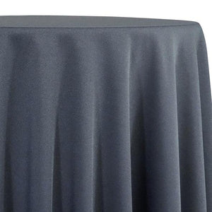 Pewter Tablecloth in Polyester for Weddings
