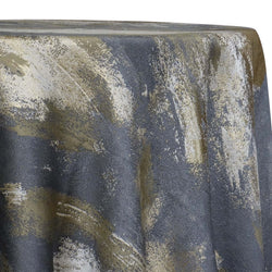 Element Jacquard Table Linen in Grey and Gold