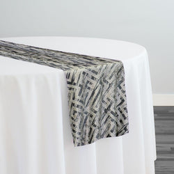 Gio Jacquard Table Runner in Grey
