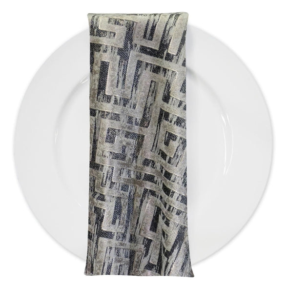 Gio Jacquard Table Napkin in Grey