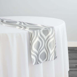 Groovy Print (Lamour) Table Runner in Grey