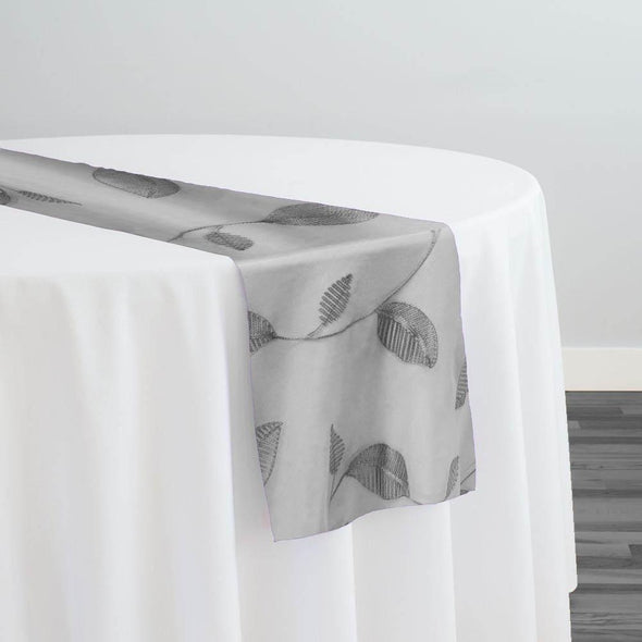 Birch Leaf Table Runner in Grey