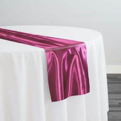 Bridal Satin Table Runner in Guava 160