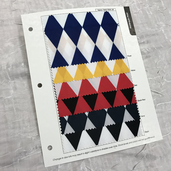 Harlequin (Lamour) Print Color Card