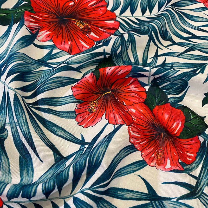Hibiscus (Poly Print) Table Napkin in Hibiscus