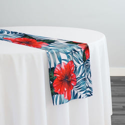 Hibiscus (Poly Print) Table Runner