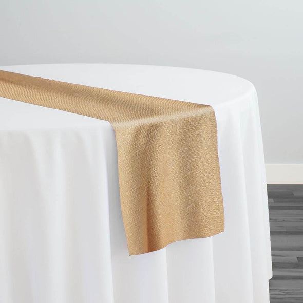 Rustic Linen (100% Poly/Double-Wide) Table Runner in Honey