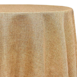 Imitation Burlap (100% Polyester) Table Linen in Honey