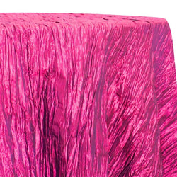 Accordion Taffeta Table Linen in Hot Pink