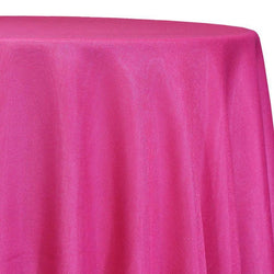 Imitation Burlap (100% Polyester) Table Linen in Hot Pink
