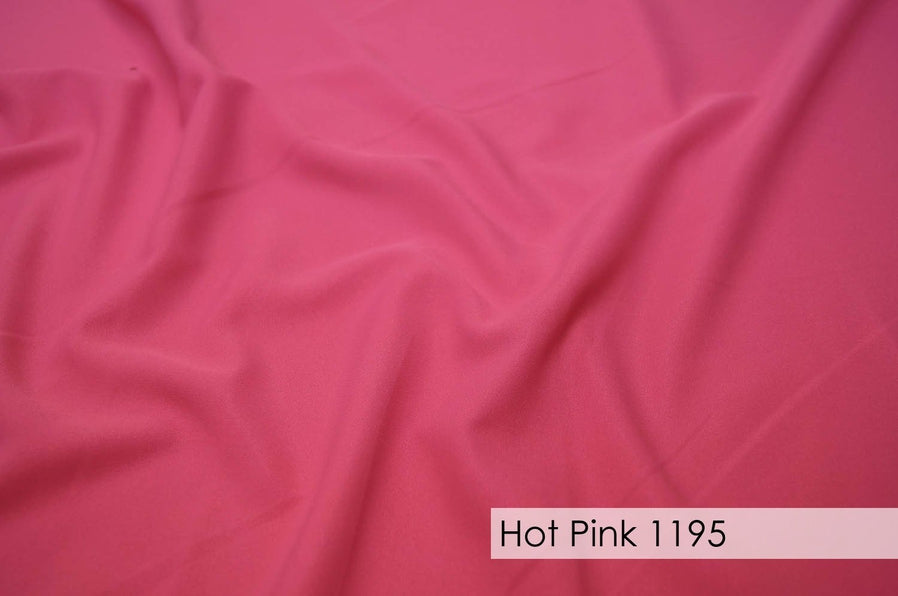 "36pcs - Polyester Poplin - 6""x108"" Sash w/ Straight Ends - Hot Pink"