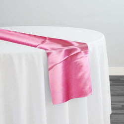Bridal Satin Table Runner in Hot Pink 515
