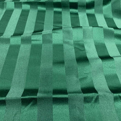 Imperial Stripe Table Linen in Hunter Green