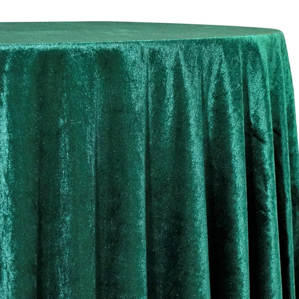 Lush Velvet Table Linen in Hunter Green
