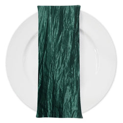 Accordion Taffeta Table Napkin in Hunter Green