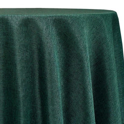 Imitation Burlap (100% Polyester) Table Linen in Hunter Green