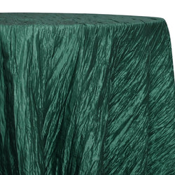 Accordion Taffeta Table Linen in Hunter Green