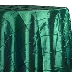 "4"" Pintuck Taffeta Table Linen in Hunter Green"