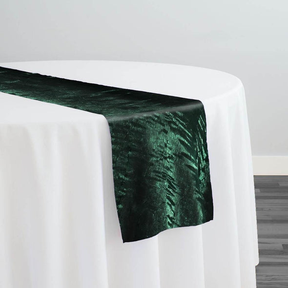 Crush Shimmer (Galaxy) Table Runner in Hunter Green 29