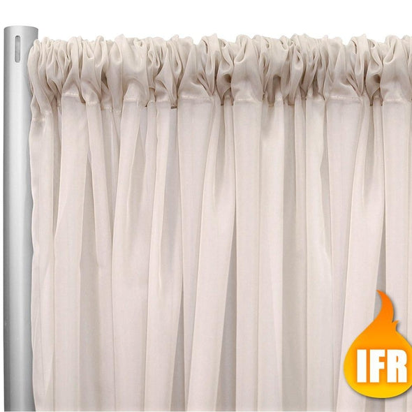 "Voile  (Fire Retardant) Drapery Panel (118"" Wide) / 3 Colors"