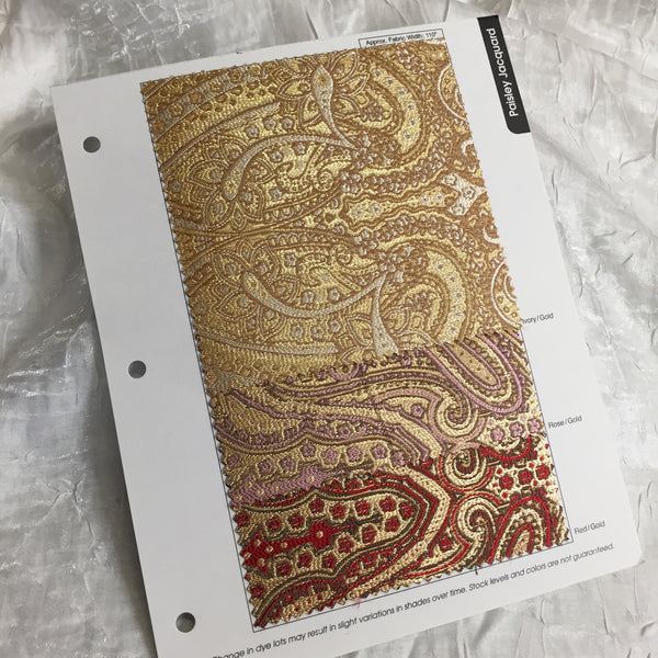 Paisley Jacquard Color Card
