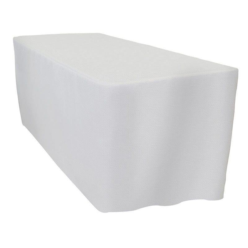 Imitation Burlap (100% Poly) Banquet Fitted Tablecloths - Hospitality Line