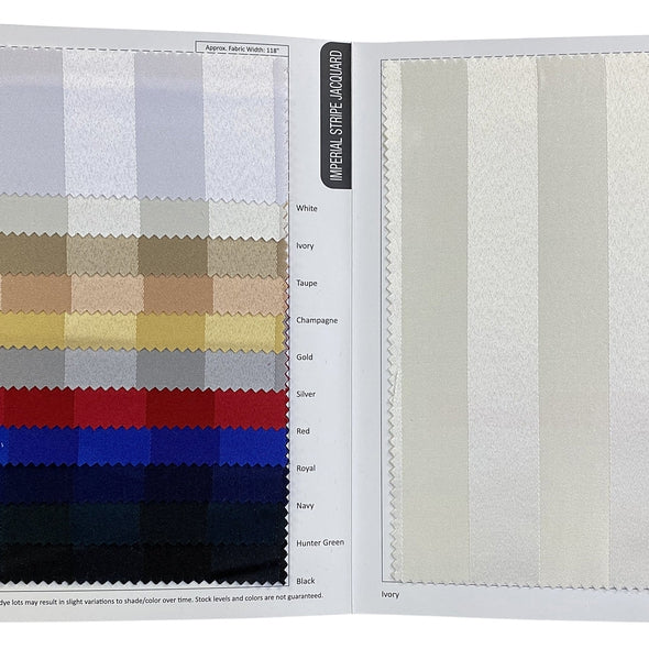 Imperial Stripe Table Napkin in Royal