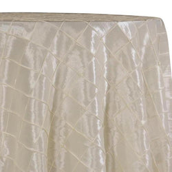 "2"" Pintuck Taffeta Table Linens in Ivory"