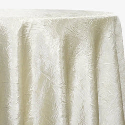 Crush Satin (Bichon) Table Linen in Ivory 112