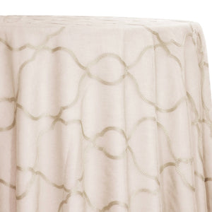 Vertigo Sheer Table Linen in Ivory